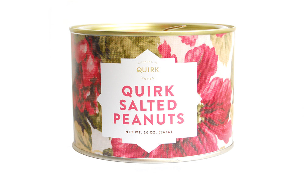 Quirk Peanuts, 20 oz.,  exclusively from Hubs Virginia Peanuts,  $16    Contact us for purchase