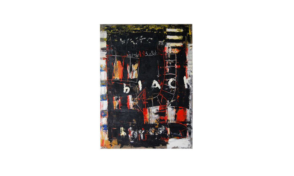 """Untitled (Black),mixed media on cardboard, 22.25"""" x 30"""", $2000 Contact us for purchase"""