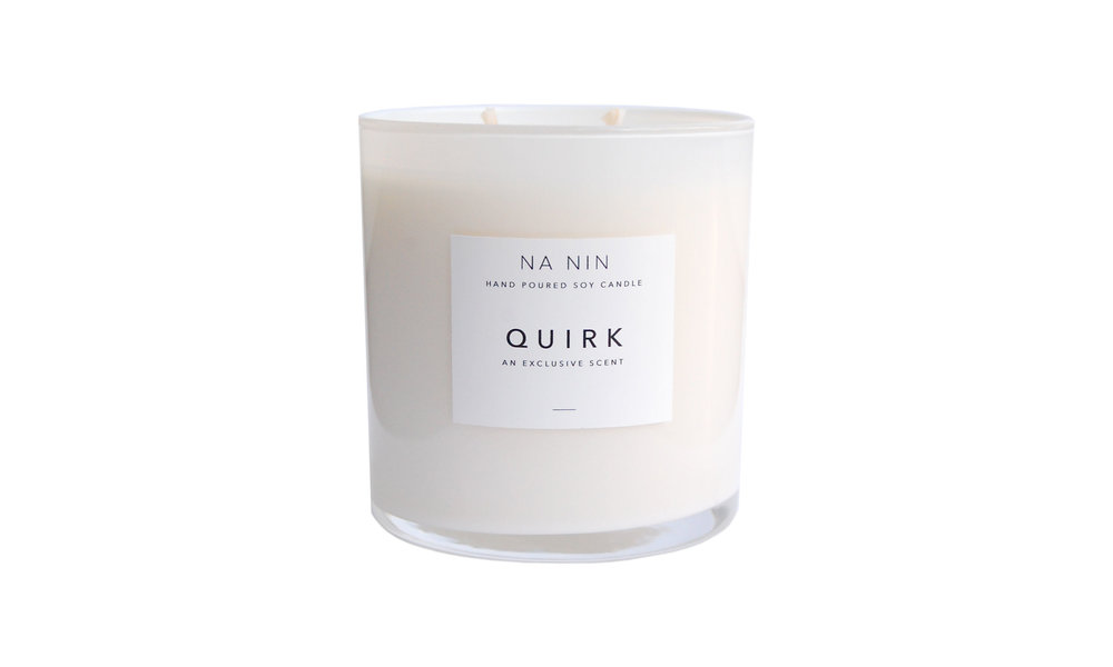Quirk Hand Poured Soy Candle, Exclusively from Na Nin, $32 Contact us for purchase