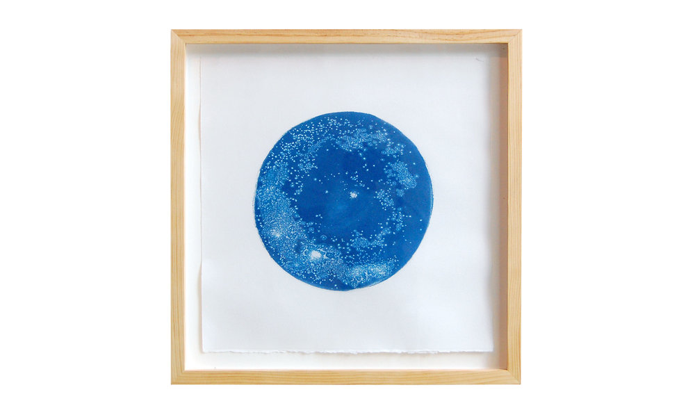 "The Galaxy in a Tear , cyanotype, 18"" x 18"", $850    Contact us for purchase"