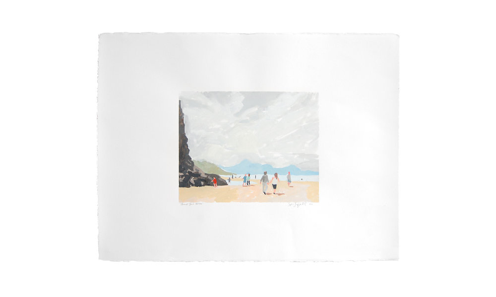 "Tillamook Beach Part One,  monotype, 22.5"" x 30"", price upon request    Contact us for purchase"