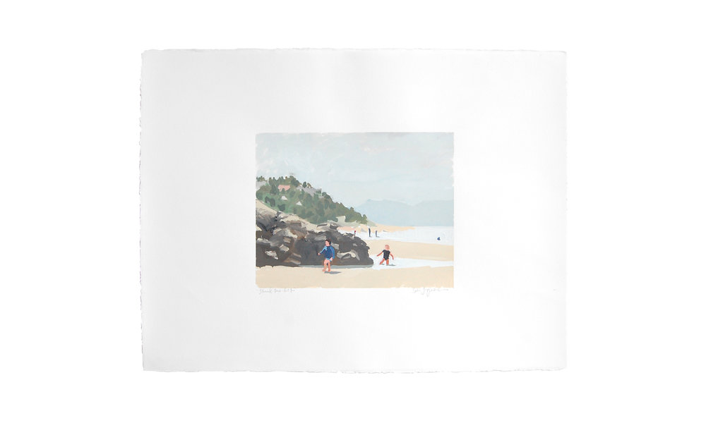 "Tillamook Beach Part Two,  monotype, 22.5"" x 30"", price upon request    Contact us for purchase"