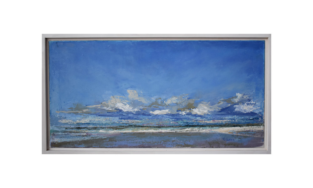 "Sanibel,  oil on canvas, 12"" x 24"", $450    Contact us for purchase"