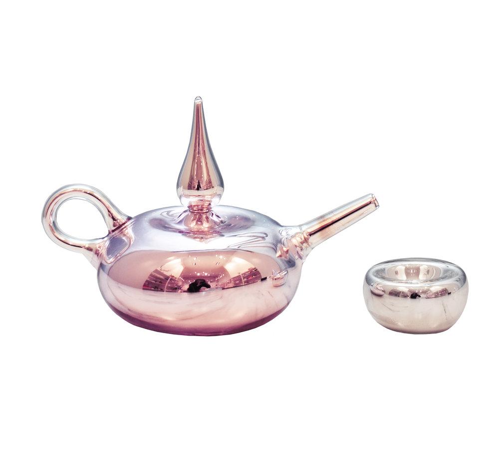 Pink Mirrorized Teapot + Cup II