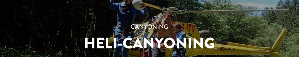 Heli-Canyoning