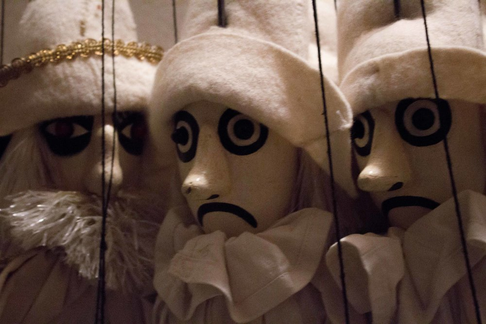 The basement of Loutkové Divadlo Jiskra houses hundreds of puppets, many of which have not seen the light of day in years.