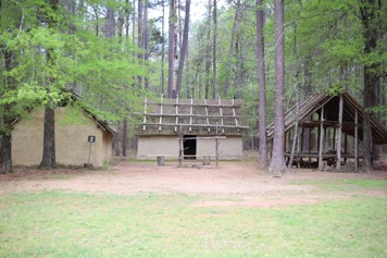 Creek Indian village replica