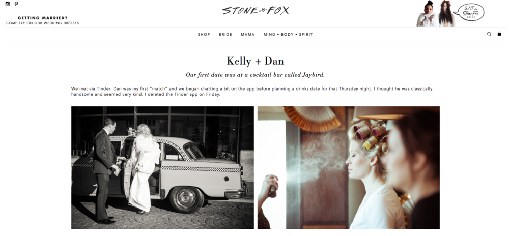Kelly and Dan's 501 Union Wedding featured on Stone Fox Bride