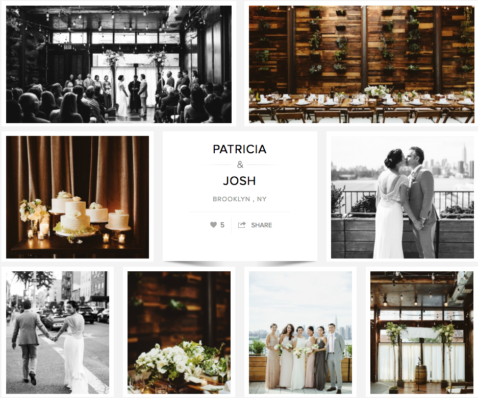 Patricia and Josh's Brooklyn Wedding featured on Carats and Cake