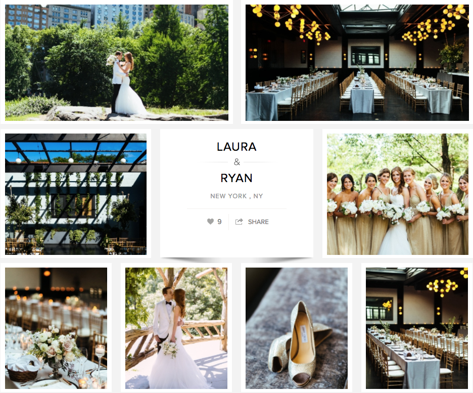 Laura and Ryan's 501 Union Wedding featured on Carats and Cake