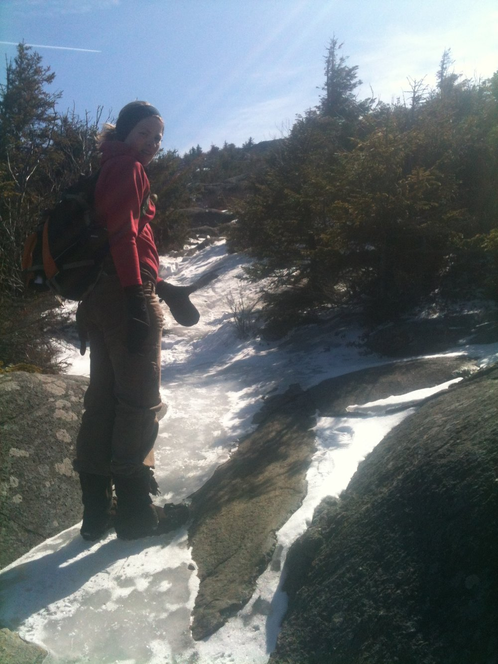 Blair, on top of Mount Monadnock, southern New Hampshire.