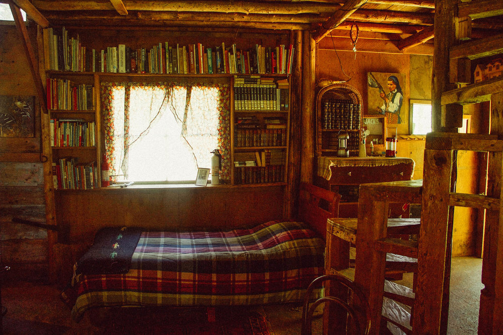 Inside the guest cabin.