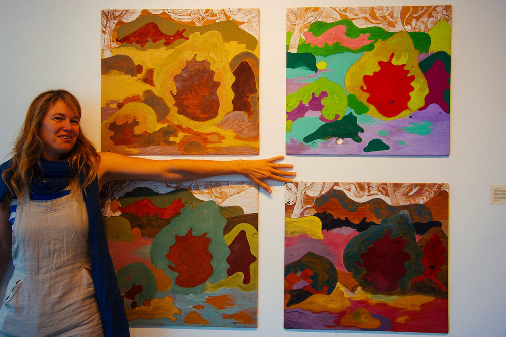 Tilke and her Animal Village paintings, mentioned in our interview on the Ground Shots Podcast.