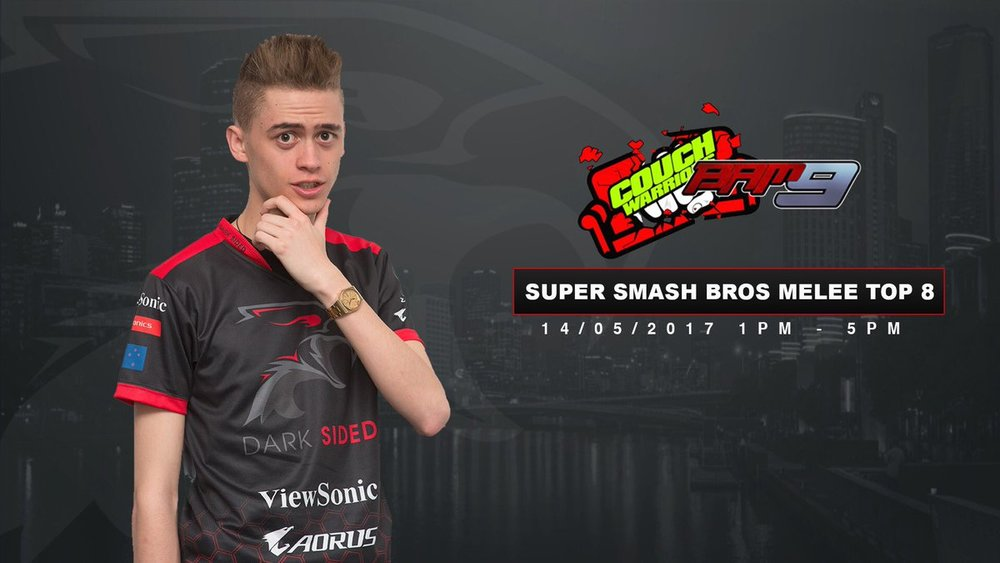 Dark Sided Super Smash Bros Melee Player Spud at Couchwarrior's Battle Arena Melbourne 9
