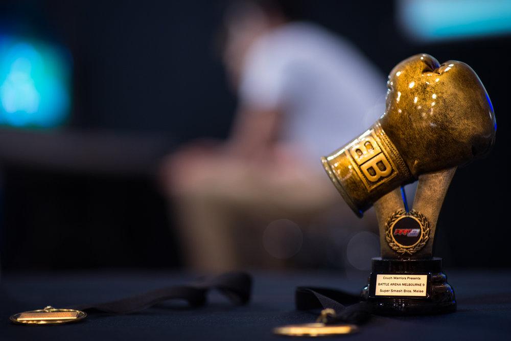 Dark Sided Battle Arena Melbourne champion trophy