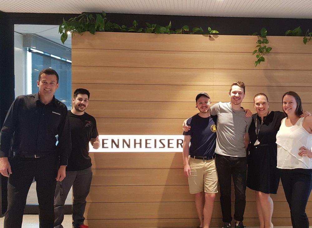 Dark Sided Management Team visiting the new Sennheiser head office in Sydney (Dec, 2018).