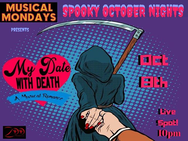 Premiere new song for #MyDateWithDeath this Monday at @gomumola! . . #weho #newmusic #newmusical #zootheatre #thingstodoinla #nightout #datewithdeath #musical #newwork #reaper #sugimation