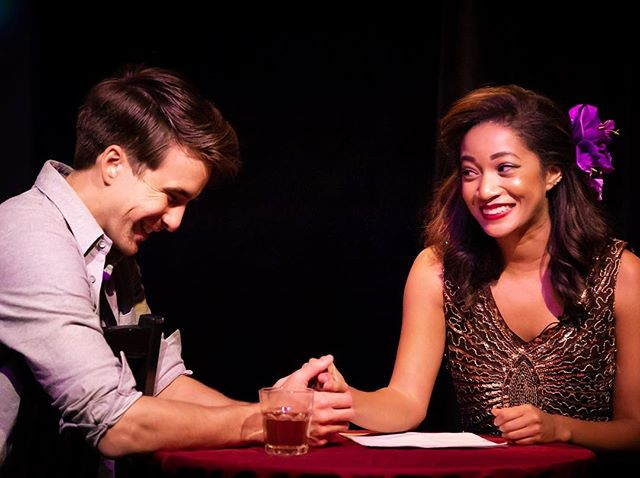 These two did it! They opened a new two person musical last night! Congrats @samanthamarkita @sugimation, can't wait to do it again tonight at 8pm! #MyDateWithDeath . Get your tickets to this Sci-fy adventure of life or death info at link in bio @zootheatreco . . #thearts #lathtr #newmusical #broadwayworld #broadway #ladydeath #notalone #latheatre #newproject #goldstar #zootheatre #mydatewithdeath