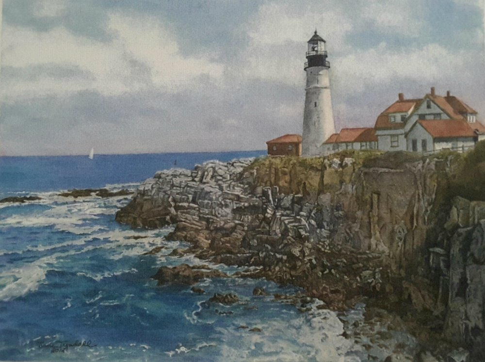 """Portland Headlight Lighthouse"" by Jane Tyndall©"