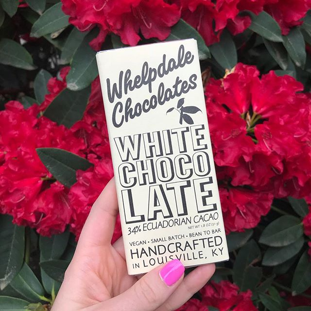 Our white chocolate bar is a favorite around town! 34% cacao of Ecuador and single origin!