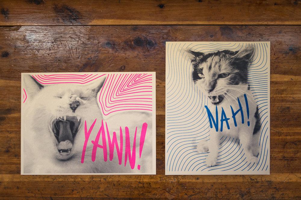 8x10 Risograph prints on paper