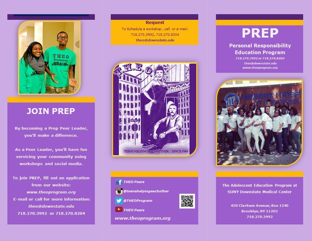 The front cover of the PREP brochure