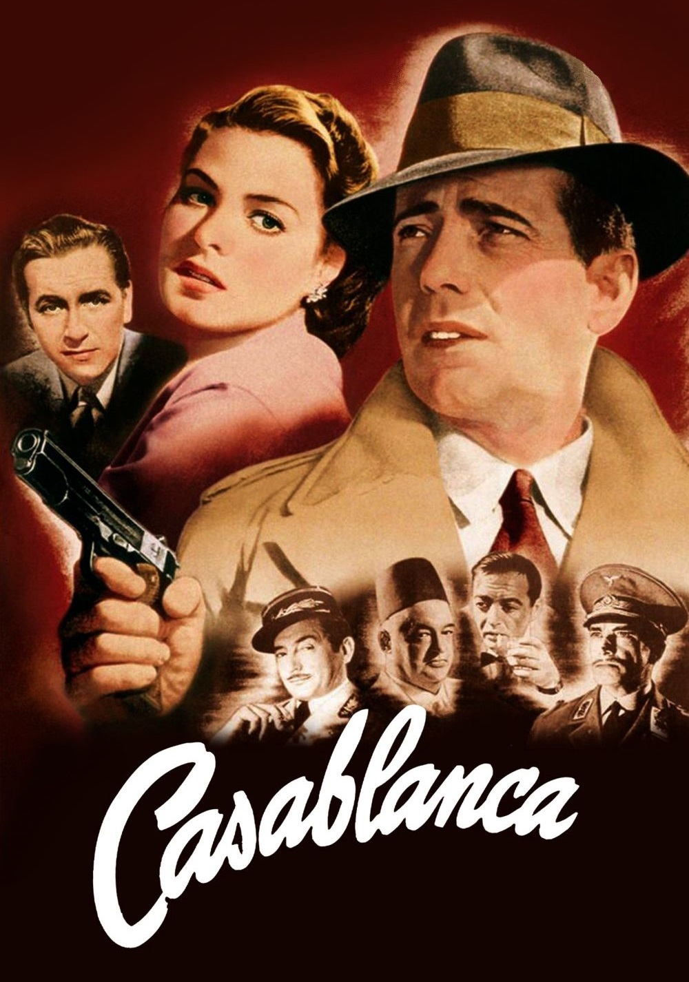 Casablanca - In Casablanca in December 1941, a cynical American expatriate encounters a former lover, with unforeseen complications.