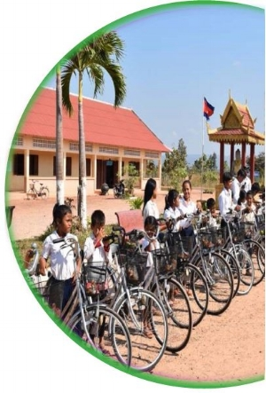 A BICYCLE FOR A CHILD WHO LIVES MORE THAN 10 kms FROM SCHOOL  $50 -
