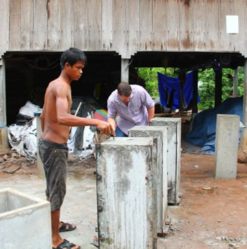 Taught the local men to build bio-sand filters