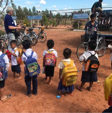 Donate bikes so children can ride 7km to school