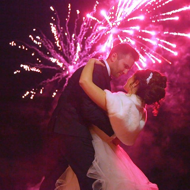 Love the fireworks package at @themanor1982. Screenshot from video.