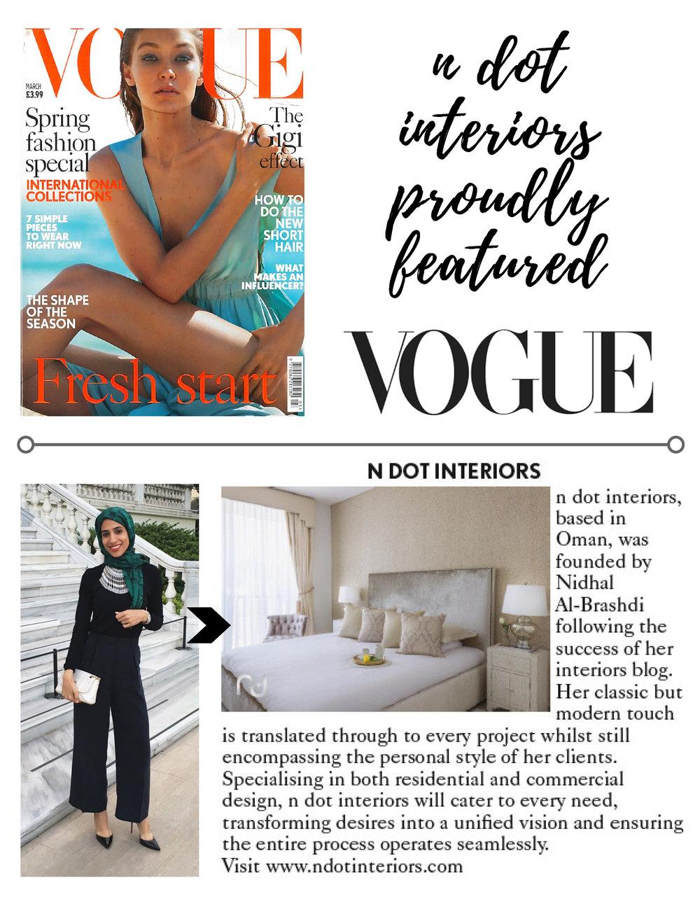 British Vogue, March 2017.