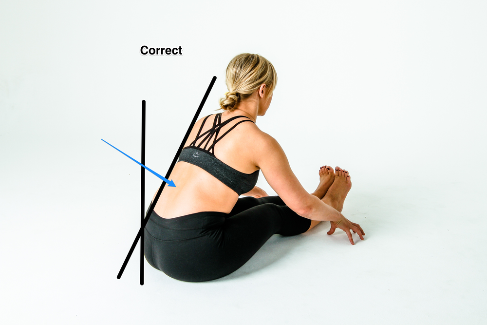 Anterior Pelvic Tilt during a Hamstring Stretch