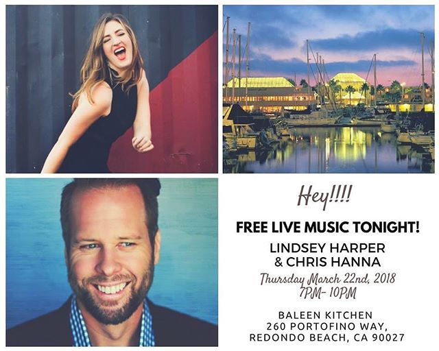 Come take a break from the ☔️ rain and listen to some free music tonight at @baleenkitchen 7PM - 10PM featuring yours truly and Chris Hanna!