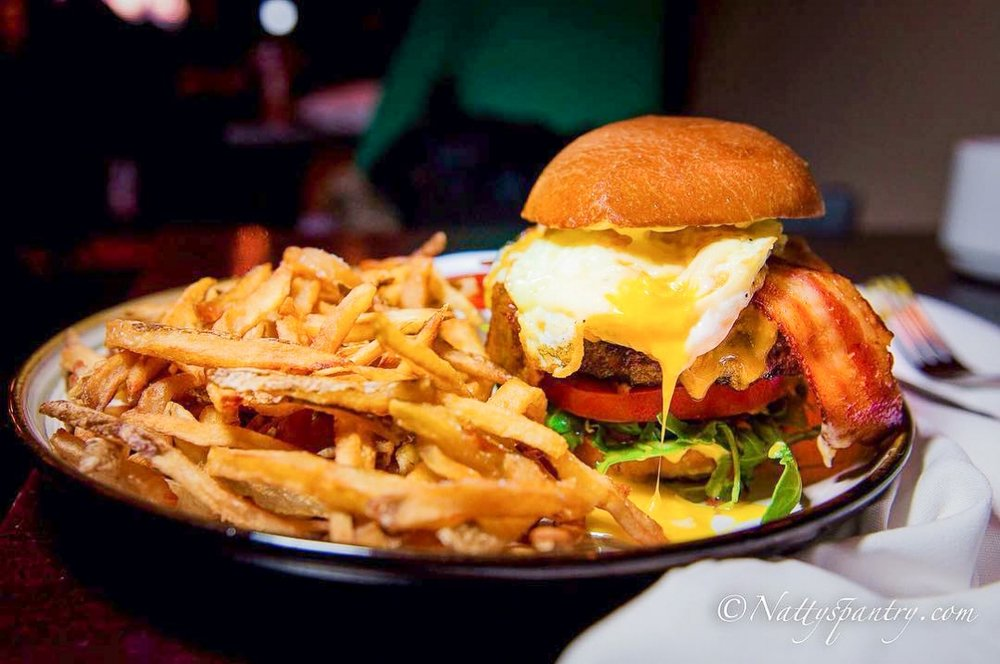 Brunch Burger, The Cellar - If you want an overall satisfying burger from a savory and rich meat patty to the accompanying fries, The Cellar's Brunch Burger is what you're looking for.