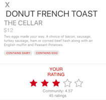 5 Stars   Clear and familiar ratings system since people are used to looking at 5 stars