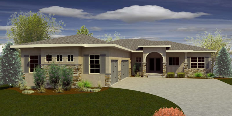 Floorplan, Single Family Home, Ranch, Three Car Garage, Three Bedroom, Open Floor Plan,