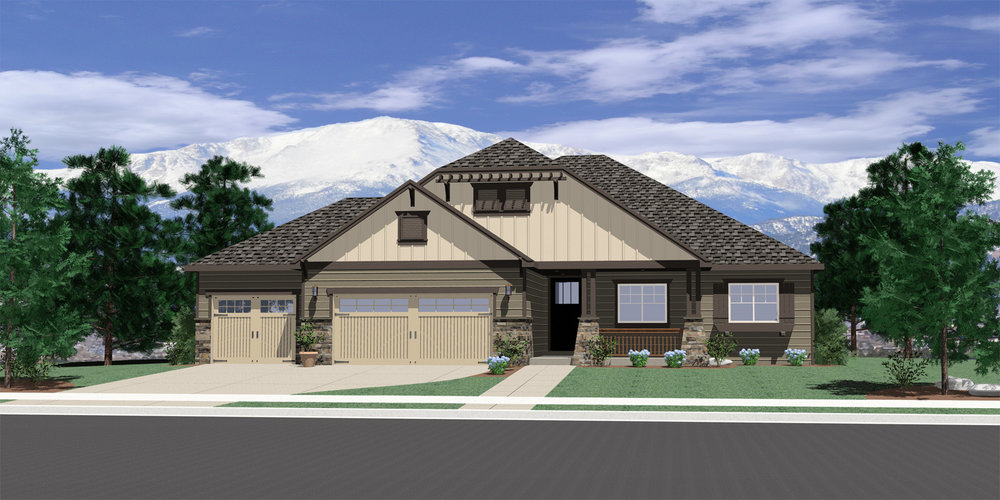 Floorplan, Single Family Home, Three Car Garage, Four Bedroom, Open Floor Plan,