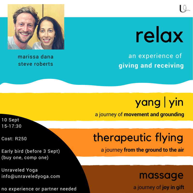 cape town yoga relax workshop yin yoga acro yoga thai massage