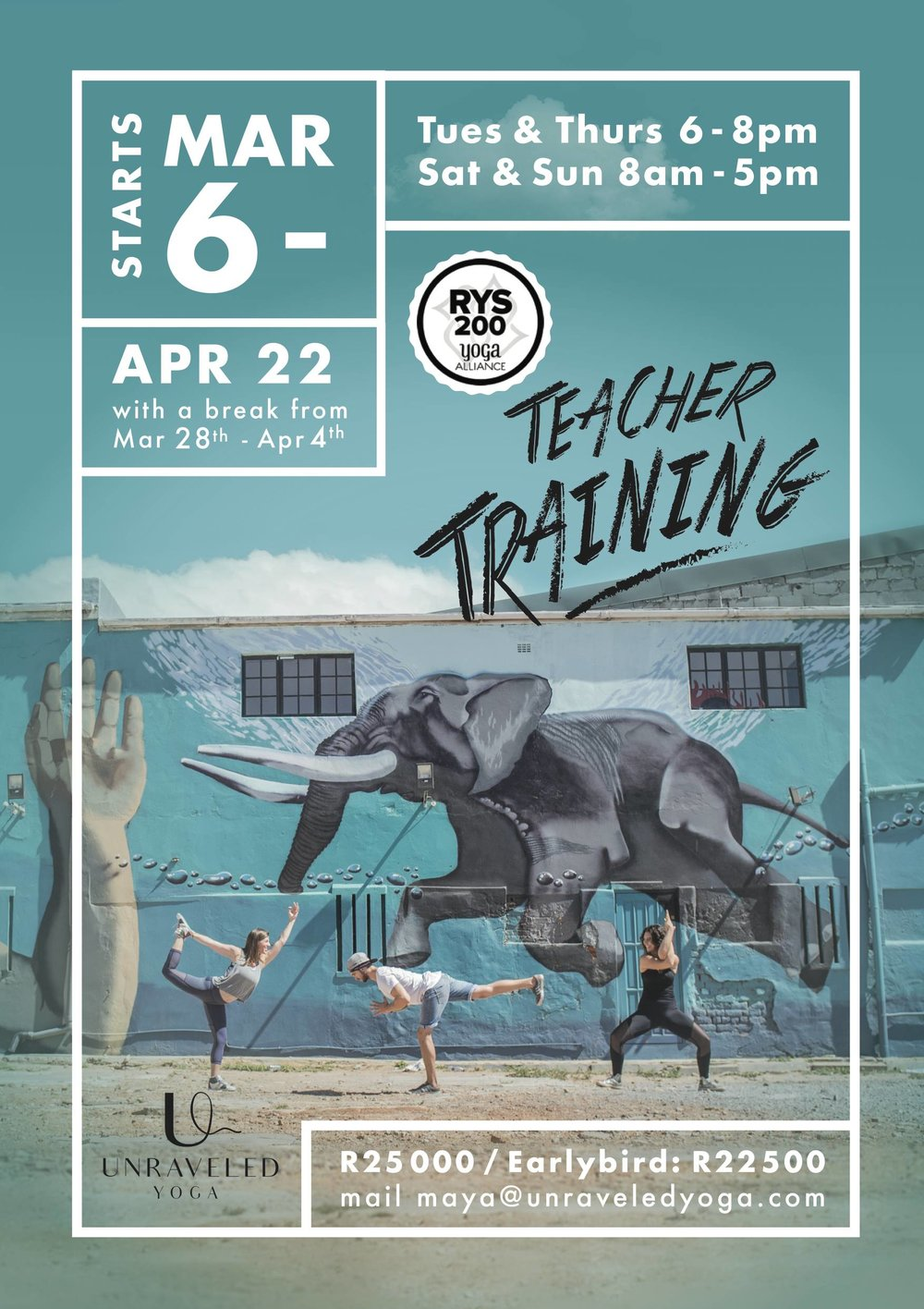 200 hour yoga alliance teacher training 2018