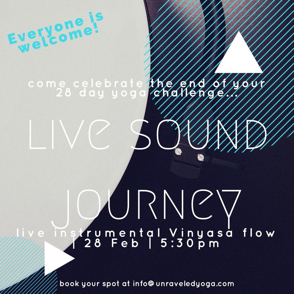 live sound journey yoga flow cape town