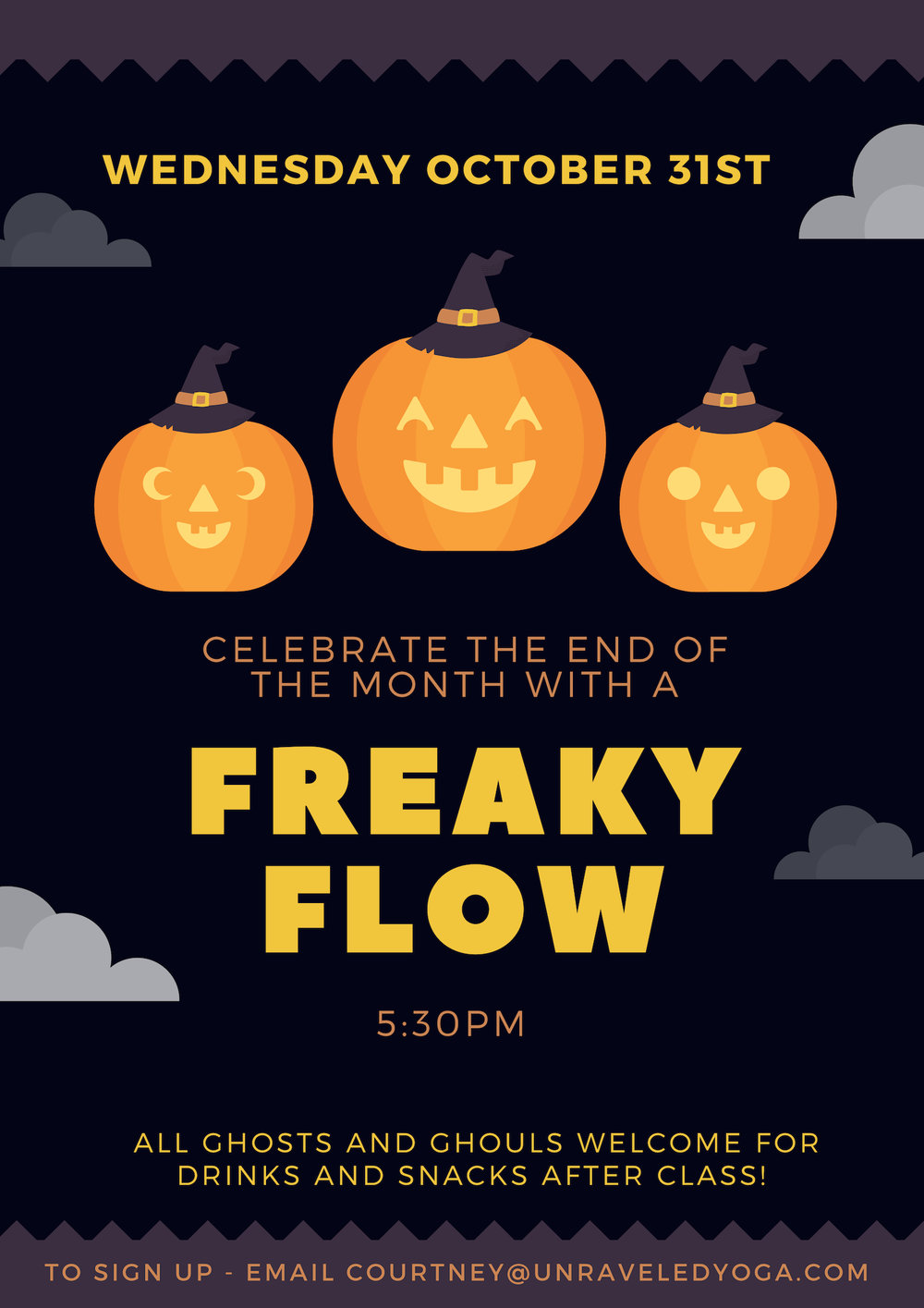 halloween party freaky flow cape town yoga