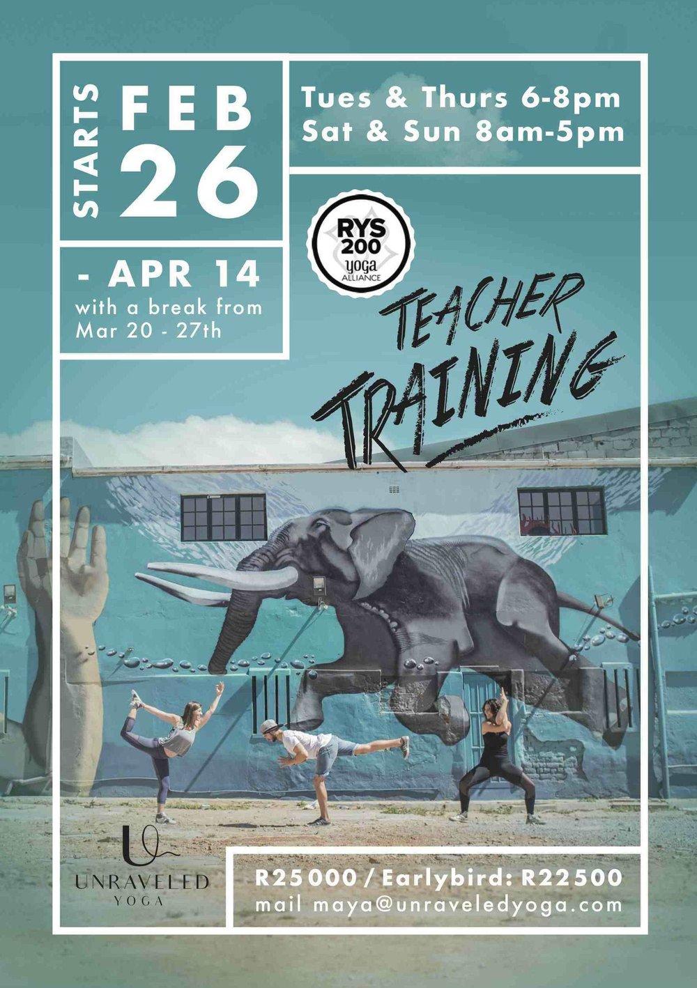 200 hour yoga alliance yoga teacher training cape town part time 2019