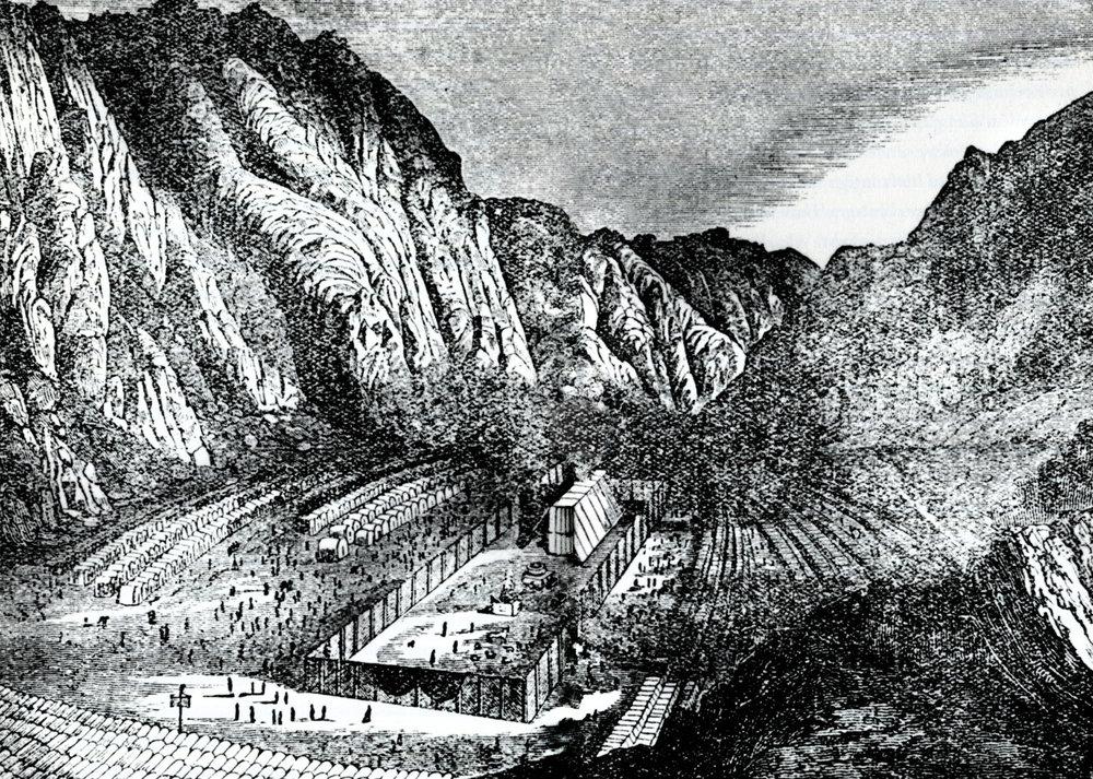 Campament dels hebreus a les muntanyes del desert