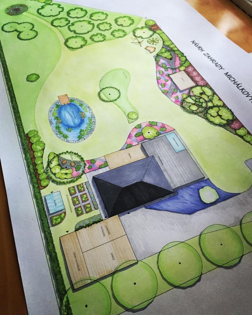 Návrh zahrady do 1500 m2 - 20.000 Kč