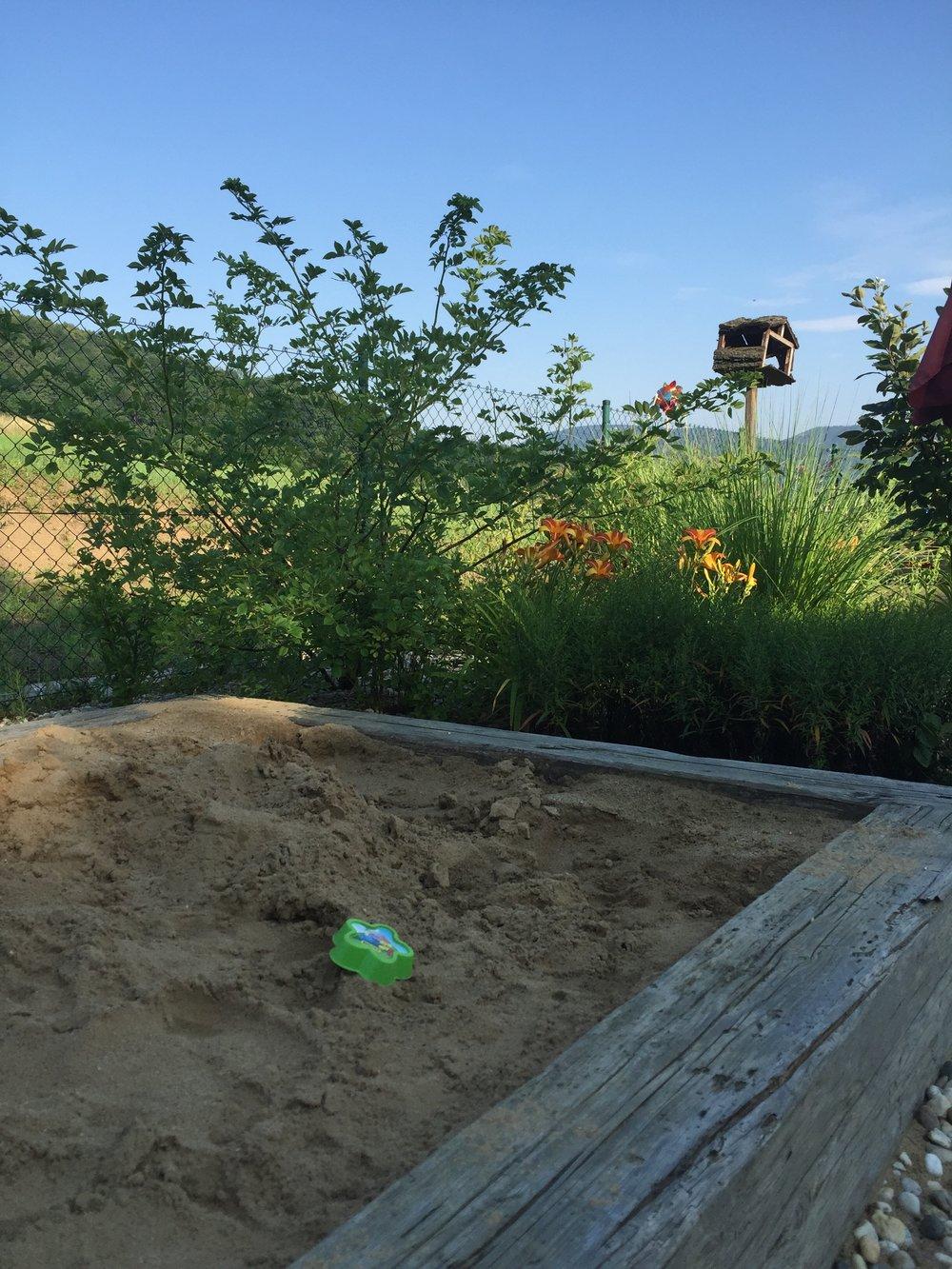 Pískoviště pro vnoučata
