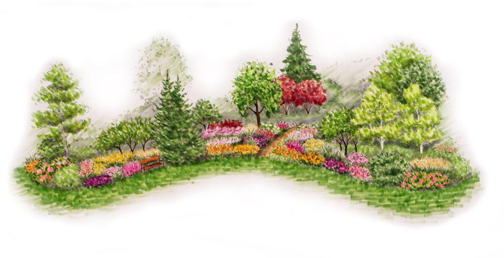 Návrh zahrady v Šonově u Broumova, venkovská zahrada, KTgardens