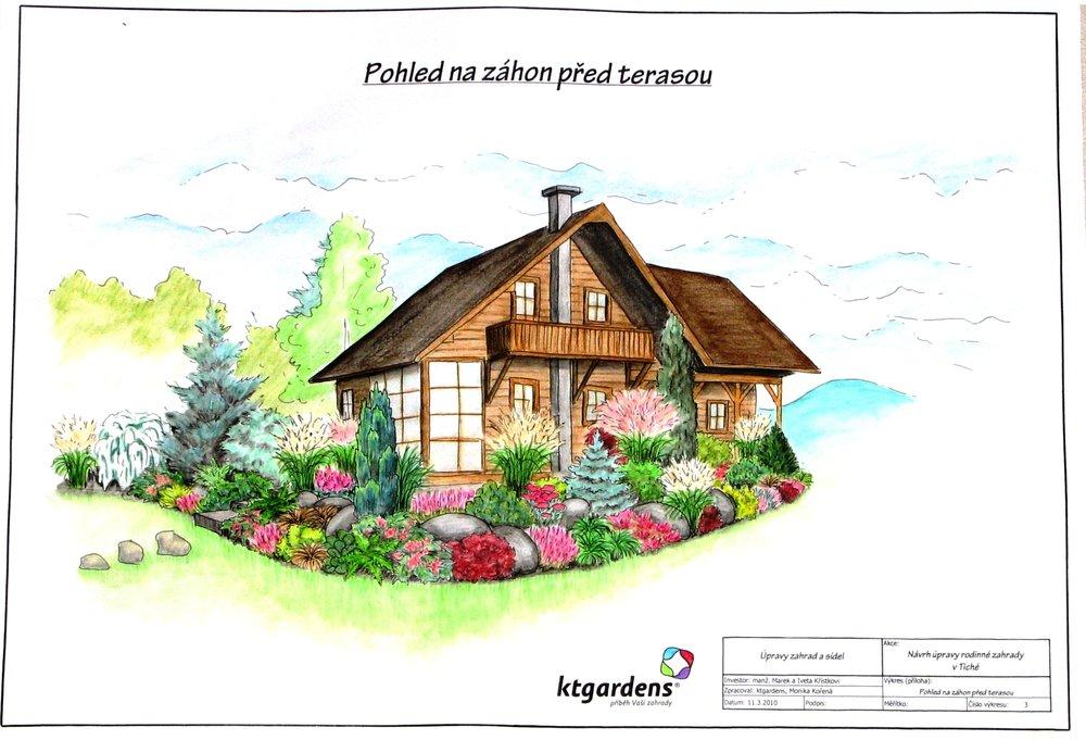 Návrh zahrady v Tiché, podhorská zahrada, KTgardens