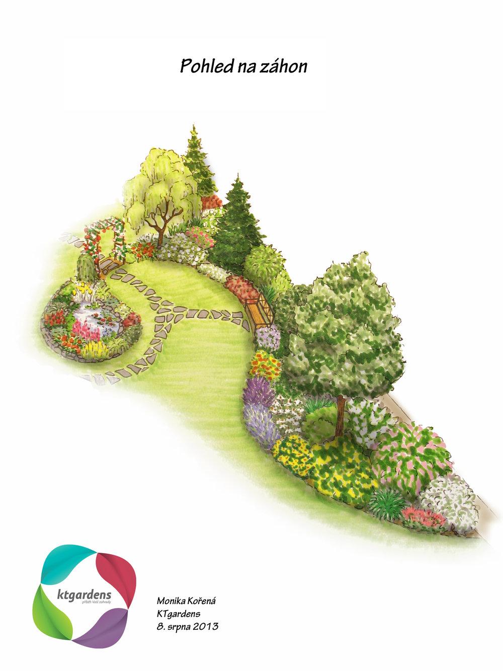Návrh zahrady v Hutisku - Solanci, venkovská zahrada, KTgardens