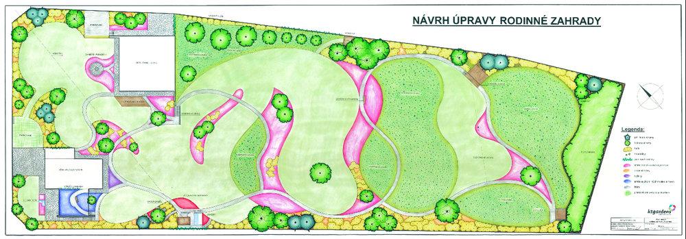 Návrh zahrady v Kopřivnici, moderní zahrada, prérijní zahrada, KTgardens